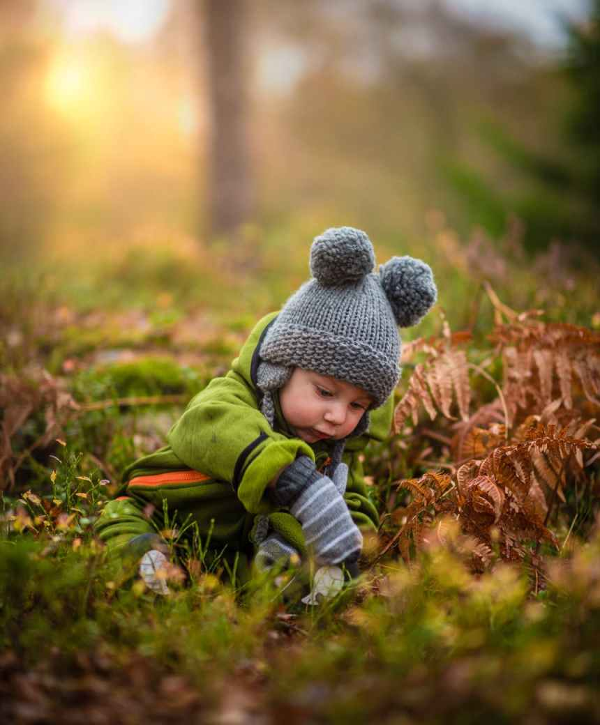 adorable autumn baby blur